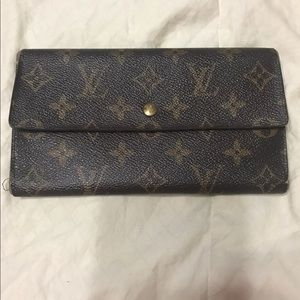 Authentic Monogram Louis Vuitton long Wallet
